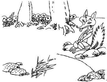 好奇的小狐狸和三个咕噜噜