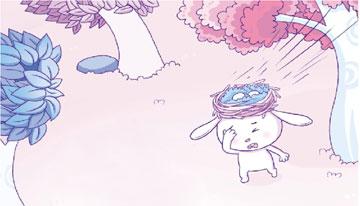 孵蛋的兔子