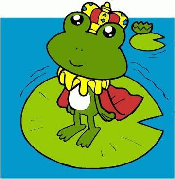 荷叶和小青蛙图片_卡通小青蛙