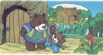 小熊住山洞