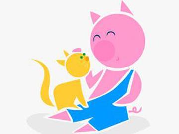 小猫咪和胖小猪